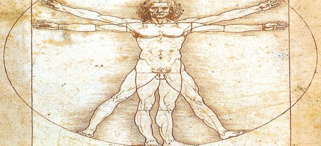 Leonardo da Vinci'nin altın oran eskizi